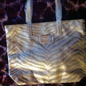Never used zebra striped canvas tote